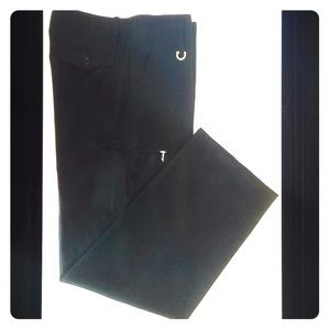 Vertigo Paris Straight Leg Zipper Accent Pants